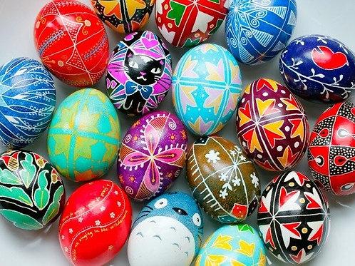Ukrainian egg (pysanky) Workshop-Ages 12+