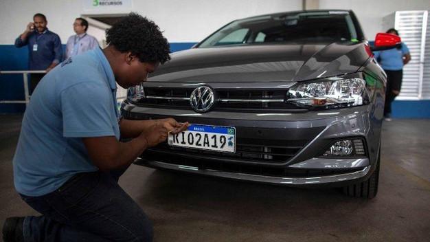 Detran vê corrida para trocar placas de veículos pelo modelo Mercosul