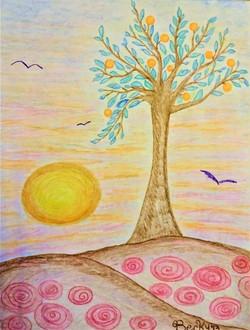 Orange Tree Sunset