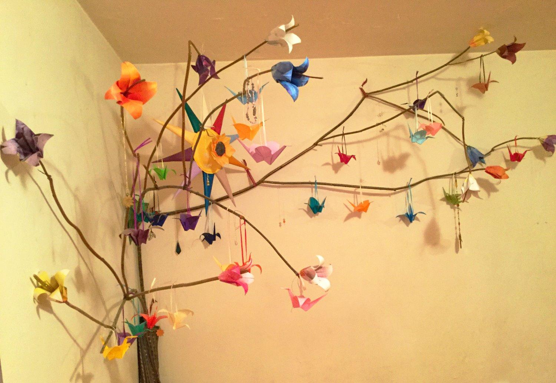 Origami Crane Tree