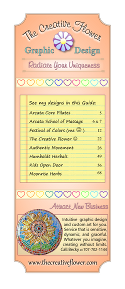 Creative Flower - Half Page Ad 2015
