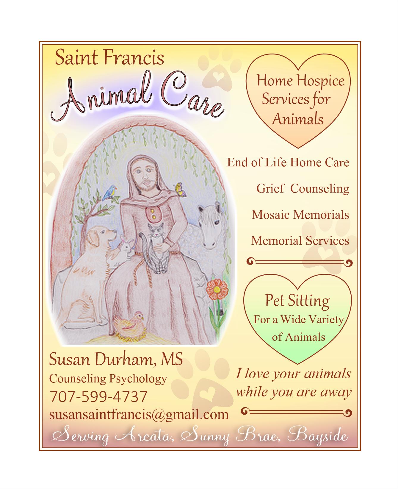 Saint Francis Animal Care Quarter Ad