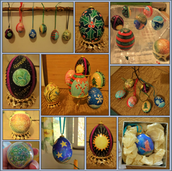 Pysanky Egg Ornaments