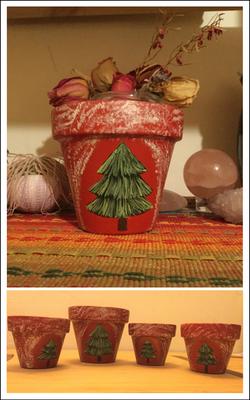 Pine Tree Family Pots