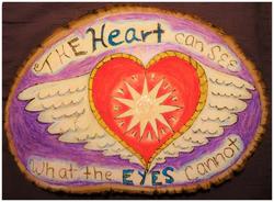 Heart Vision Woodburning