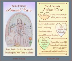 SF Pet Care Biz Card