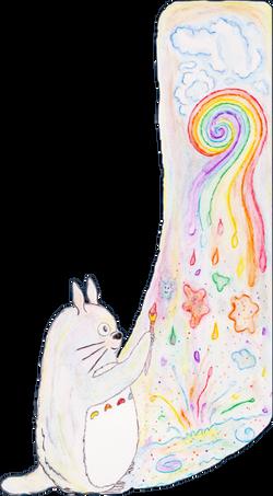 Totoro Makes Watercolor