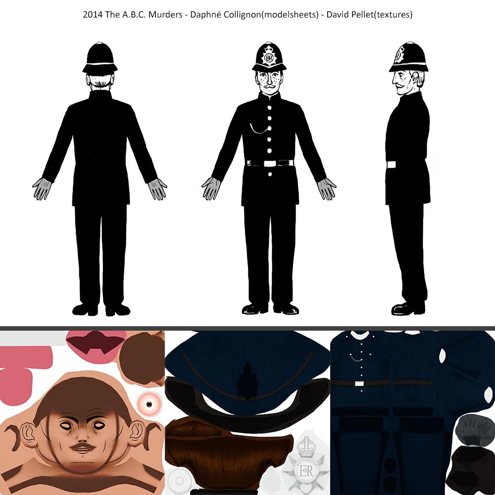 2014_The A.B.C.Murders_Daphné-Collignon(modelsheets)_David-Pellet(texture)_Policeman