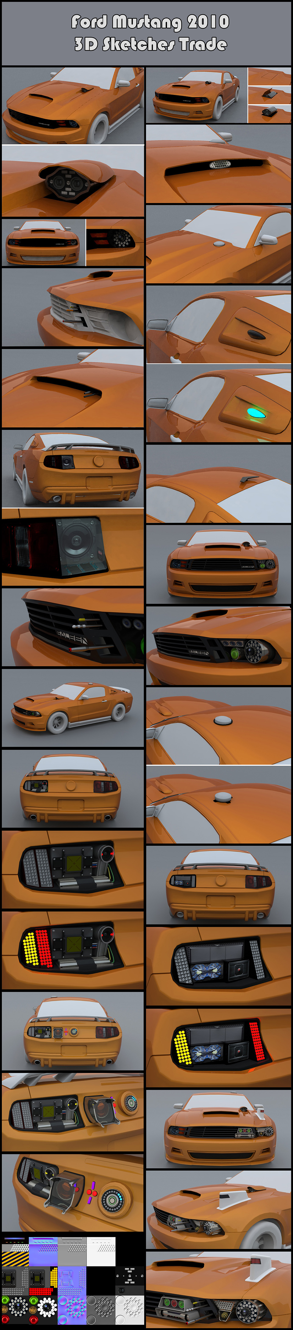 2012-12_The Crew_F.Beudin_Mustang-2010_Trade_3D-SKETCHES