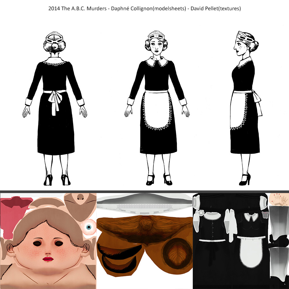 2014_The A.B.C.Murders_Daphné-Collignon(modelsheets)_David-Pellet(texture)_Mary.Drower