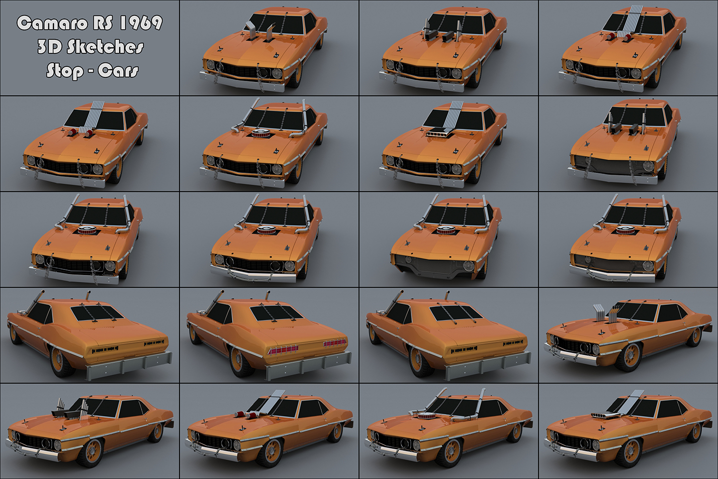 2010-07_The Crew_F.Beudin_Camaro-RS1969_Sketches-Stop Cars