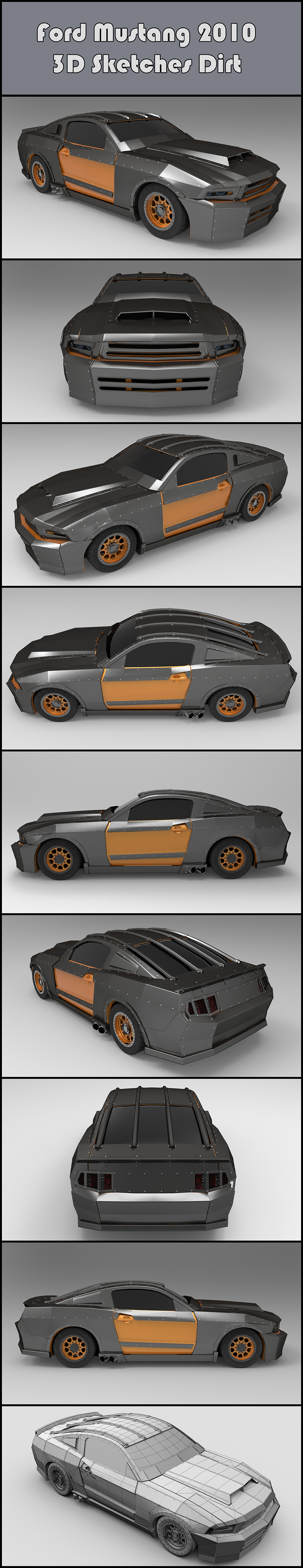 2011-11_The Crew_F.Beudin_Mustang-2010-Dirt_3D-SKETCHES