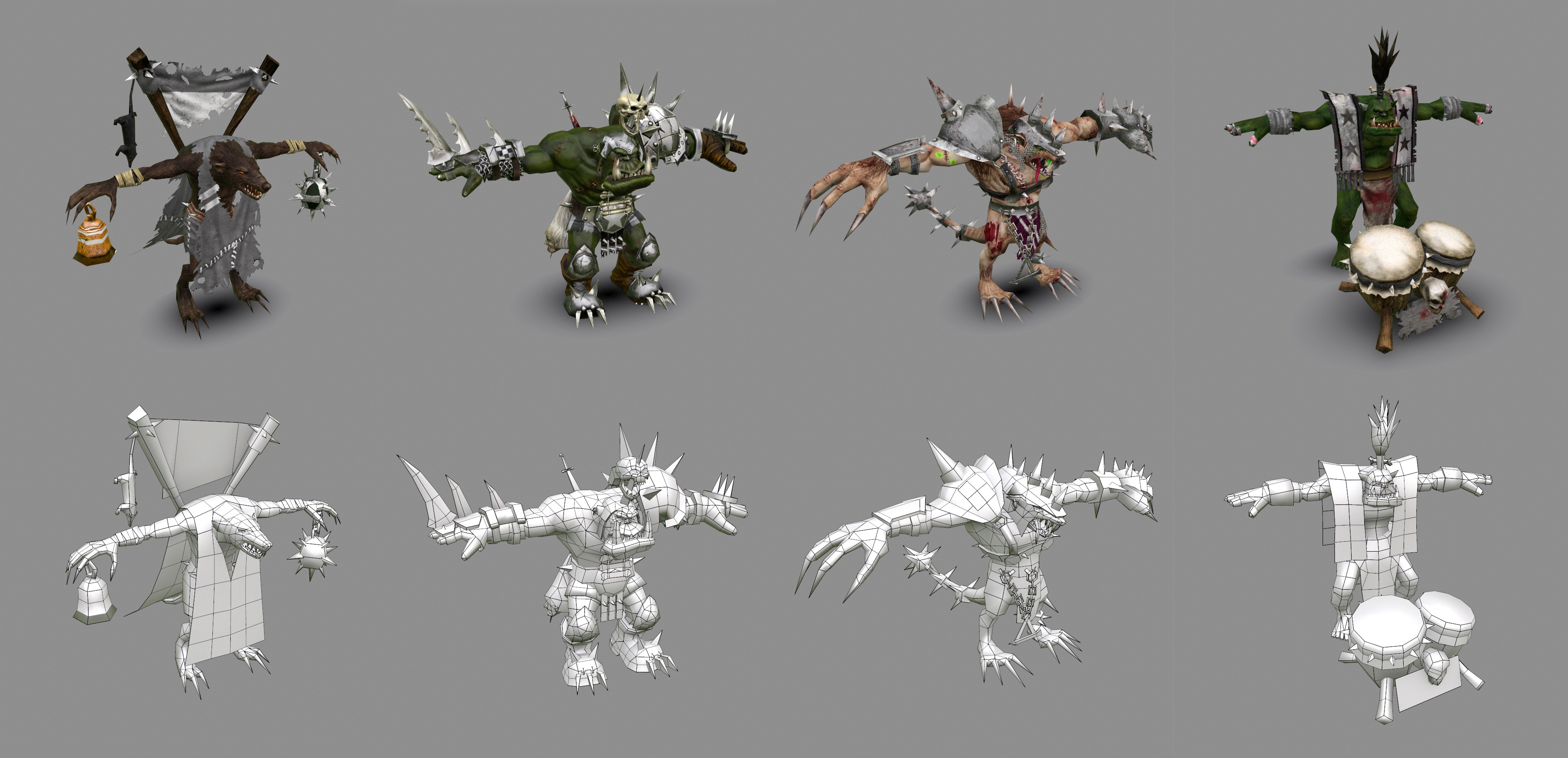 2014_BloodBowl_F.Beudin_Skaven-Cheerleader.Skaven-Cheerleader.Skavens-Headsplitter.Orc-Cheerleader