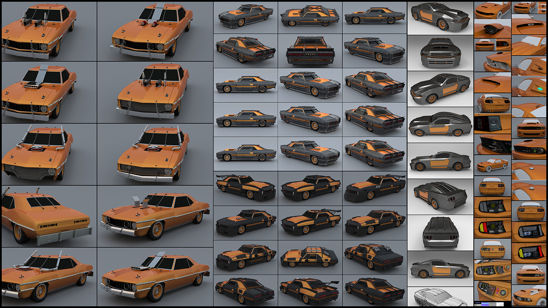 2010-2012_The Crew_F.Beudin_Sketches Cars
