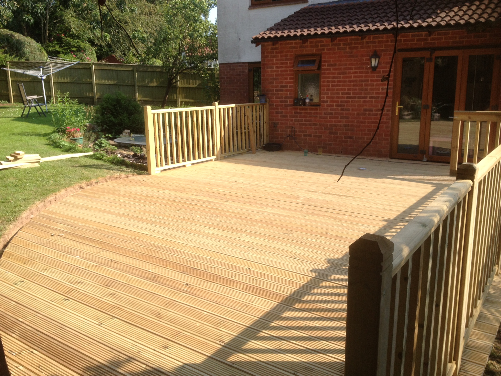 Completed decking from diff angle