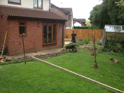 Decking project before works started