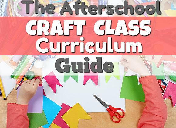 Afterschool Craft Class Curriculum Tutorial Package