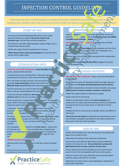 Infection Control Guidelines Poster Digital