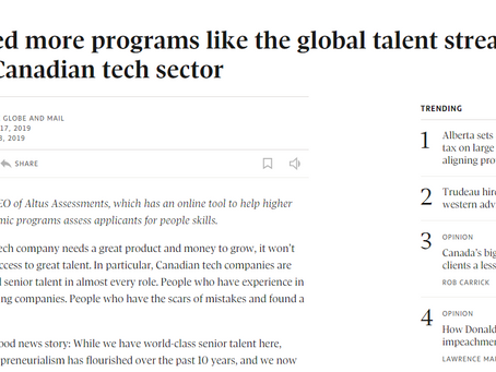 Globe & Mail. Tech sector gets a boost, thanks to VanHack