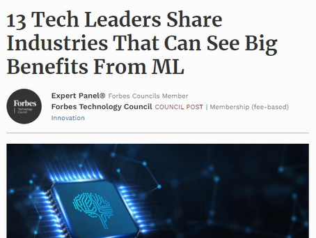 Forbes. Machine learning can help insurance companies make better bets, says Vaclav Vincalek