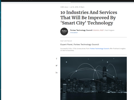 Forbes. Smart cities will put people on the move, PCIS says