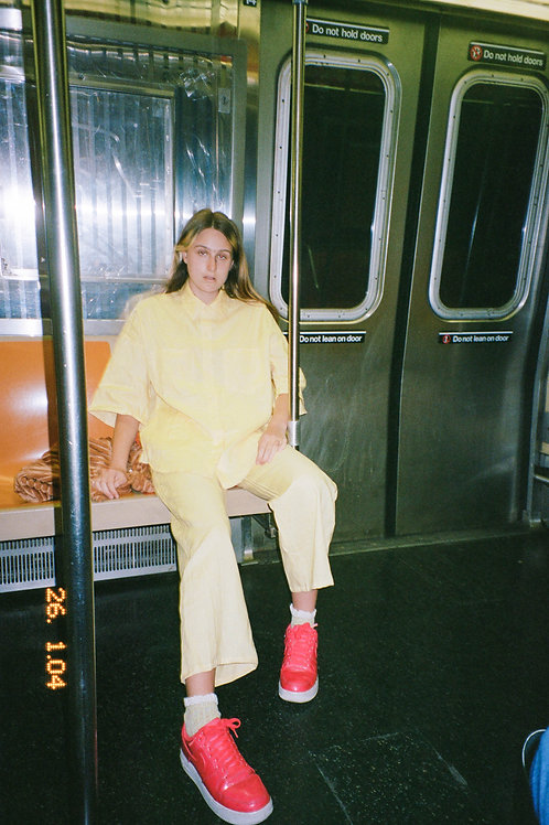 Yellow Linen Oversized Shirt