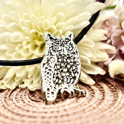 Fine silver Owl necklet
