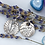 Thumbnail: Silver earrings: Fern leaf texture