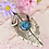 "Thumbnail: Fine silver Buddleia leaf with ""Loving arms"" bail"