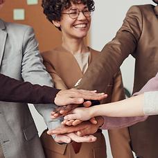 business meeting handshake high fives te