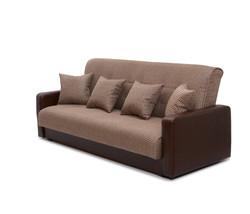 77-0113 Диван Лондон рогожка микс коричневая с подушками 2