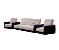 77-01090кр Комплект Лондон рогожка  бежевая (диван+2 кресла)1