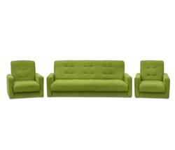 77-0001ка Комплект Астра салатовая (диван+2кресла) 2