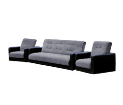 77-01110кр Комплект Лондон рогожка  серая (диван+2 кресла)1