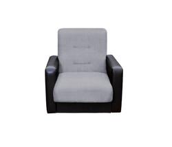 77-01110-2 Кресло Лондон рогожка  серая 1