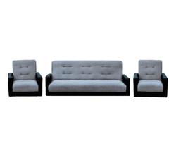 77-01110кр Комплект Лондон рогожка  серая (диван+2 кресла)2