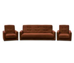 77-0022ка Комплект Астра коричневая (диван+2 кресла)2