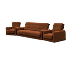77-0022ка Комплект Астра коричневая (диван+2 кресла)1