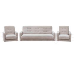 77-0109кр Комплект Лондон-2 рогожка  бежевая (диван+2 кресла)1