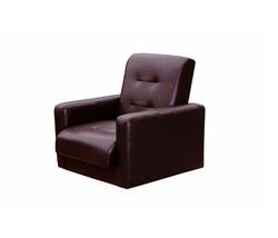77-00021кэ Комплект Аккорд экокожа коричневая (диван+2кресла)3