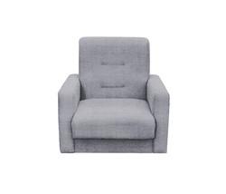 77-0111-2  Кресло Лондон-2 рогожка  серая