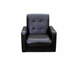 77-00020к Кресло Аккорд экокожа темно-коричневая 1