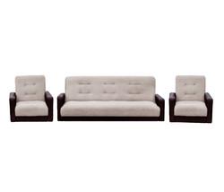 77-01090кр Комплект Лондон рогожка  бежевая (диван+2 кресла)2