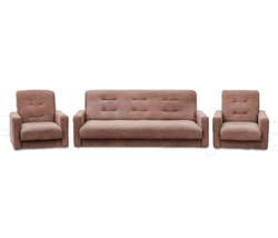 77-0110кр Комплект Лондон-2 рогожка  коричневая (диван+2 кресла)1