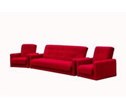 77-0005ка Комплект Астра бордовая (диван + 2кресла) 1