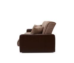 77-0113 Диван Лондон рогожка микс коричневая с подушками 3
