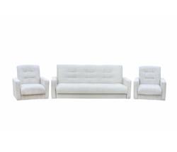 77-00016кр Комплект Лондон-2 рогожка микс бежевая (диван+2 кресла) 1