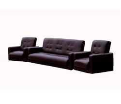 77-00021кэ Комплект Аккорд экокожа коричневая (диван+2кресла)2