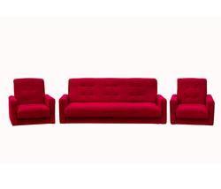 77-0005ка Комплект Астра бордовая (диван + 2кресла)
