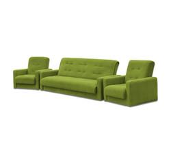 77-0001ка Комплект Астра салатовая (диван+2кресла) 1